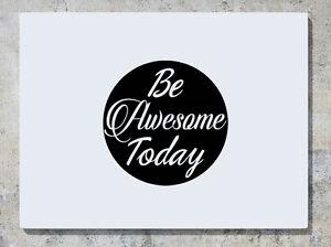 Be-Bellissimo-Today-Citazione-Motto-Logo-Decalcomania-Adesivo-Da-Parete-Foto
