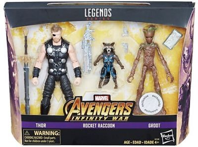 Marvel Legends Thor, Rocket Raccoon, and Groot 3 Pack - Toys R Us Exclusive