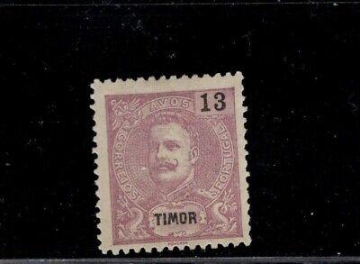 Timor 1898 - 1903  13a violet  King Carlos MH Sc 68