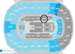 Two Eric Church Tickets - Section 108