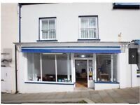 Spacious Shop / Offices to let, Haverfordwest Town Centre with free street parking available