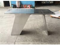 Aviator Aluminium Desk with integrated storage. Vintage spitfire wing desk table