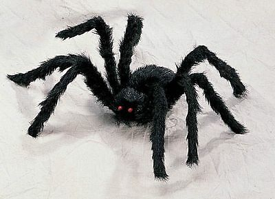 2' Foot Black Hairy Spider Huge Giant Halloween Haunt Prop - Giant Halloween Spiders