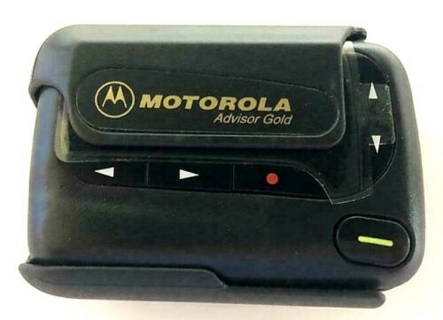 2 Pcs  Motorola Advisor Gold - Pager Beeper With Belt Clip - Brand New