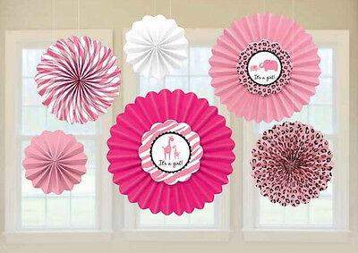 Pink Cheetah Print Party Supplies (6 FUN CUTE Pink Girls Baby Shower Decoration Animal Cheetah)