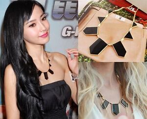 Hot-Luxury-Fashion-Black-Geometric-Figure-Triangle-Sharp-European-Style-Necklace