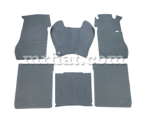 Mercedes W110 W111 220 Fintail Grey Rubber Floor Mat Set 6 Pcs New