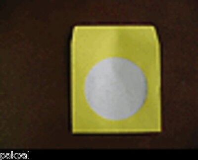 1000 New Yellow Paper Cd Sleeve Wwindow Flapjs204 Sales
