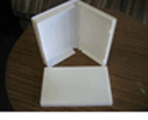 50 HIGH QUALITY WHITE VHS VIDEO BOX LIBRARY CASE, NO HUB, W/FULL SLEEVE PSV12