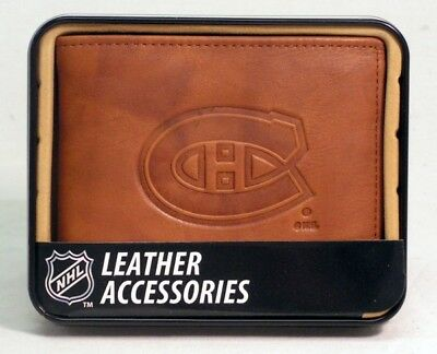Montreal Canadiens NHL Embossed Leather Billfold Wallet FREE US SHIPPING Montreal Canadiens Leather