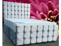 Brand new crushed velvet beds in silver!💎