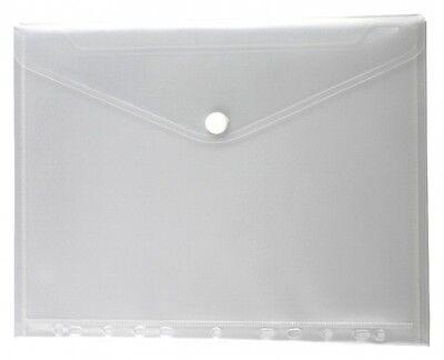 10x Dokumententaschen Umschläge Klettverschluss Abheftrand A4 transparent