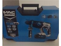 Mac Allister Cordless 18V Li-Ion SDS Rotary Hammer Drill 2 Batteries MERH18-LI
