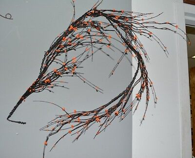RAZ IMPORTS 6FT ORANGE BERRY VINE GARLAND Fall NEW HaLLoWeeN SCARY FUN!