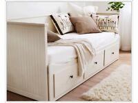 Ikea Hemnes 3 drawer sofa bed w/2 mattresses