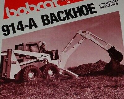 Bobcat 900 Series Skid Steer Loader 914-a Backhoe Spec Sheet Sales Brochure
