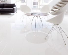Elesgo Supergloss Arctic White 8mm Laminate Flooring - 1 Pack - NEW