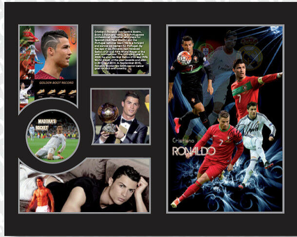 New Cristiano Ronaldo Signed Real Madrid Portugal Limited Edition Memorabilia