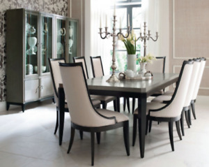 SELLING ::: Grey Dining Table and 6 Chairs Set
