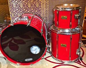 80s PEARL BIRCH SHELL DRUMS