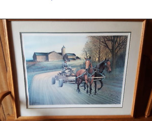 Framed Painting /print limited edition by HORST GUILHAUMAN