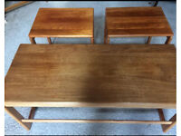 G plan style trio of tables
