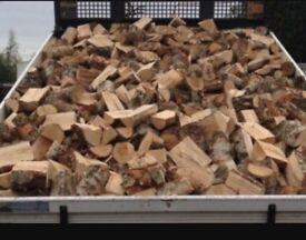 Seasoned logs by the truck load