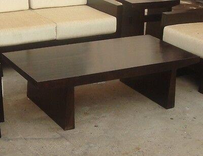 japanese style sheesham wood wooden center / coffee table ! | ebay
