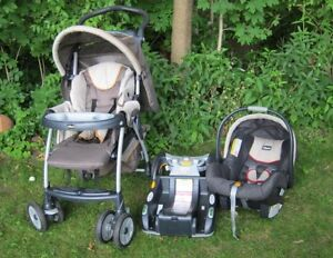 Chicco Cortina Travel System - Stroller+CarSeat+Stay-in-car Base