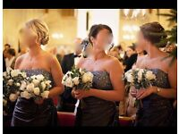 Four beautiful, strapless, full length bridesmaid dresses (originally purchased at £180 each).