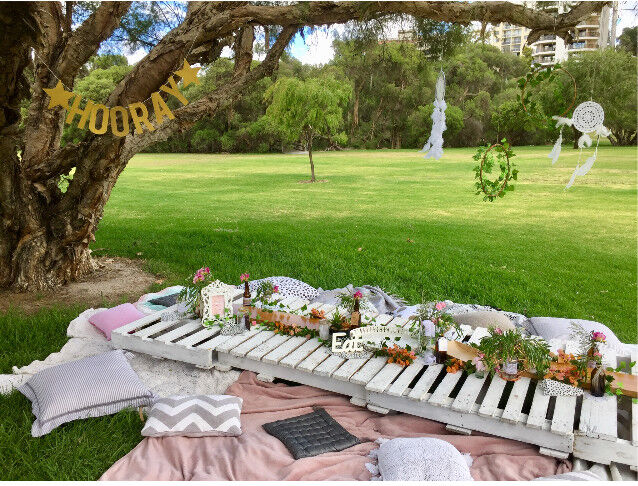 Boho Pallet Garden Picnic Hire Hens Party Baby Shower Party Hire Gumtree Australia Joondalup