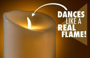 BEAUTIFUL LUMINARA FLAME EFFECT CANDLES - REAL CANDLES THAT ARE SAFE TO USE ANYWHERE WITHOUT FLAME OR SMOKE !