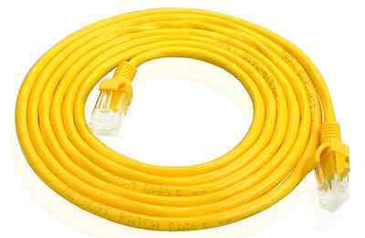 12' 12Ft. Cat 5E Molded Network Lan Ethernet Internet Patch Cable Yellow (12' Cat5e Patch Cable)