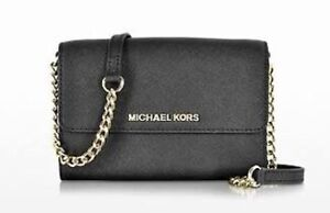 Michael Kors saffiano leather jet set black and gold crossbody Manning South Perth Area Preview