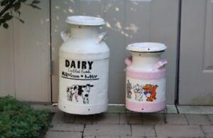 Rustic milk jug