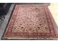 100% Pure New Wool Hand Knotted Rug - Made In Belgium