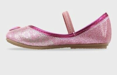 Shimmer and Shine Toddler Girls Glitter Ballet Flats Pink - Pink Toddler Flats