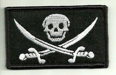 Pirate Hooks (Jolly Roger Pirate Skull Crossed Swords Morale VELCRO® BRAND Hook Fastener)