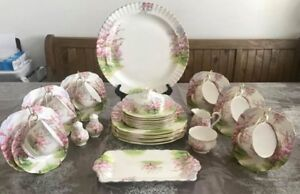 Royal Albert Blossom Time 38pc Dinner and Tea Set with Teapot