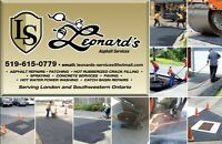 Leonard's Asphalt Services-Repairs, Crack Filling & Sealing
