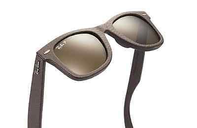 POLARIZED Ray-Ban WAYFARER Genuine LEATHER Neophan P3 PLUS Sunglasses RB 2140 QM