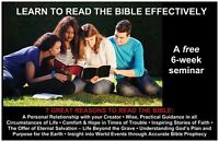 Learn to read the Bible Effectively - a FREE 6 week course