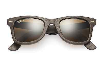 POLARIZED Ray-Ban WAYFARER Genuine LEATHER Neophan Sunglasses RB 2140 QM 1153/N6