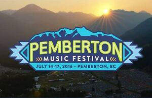 PEMBERTON MUSIC FESTIVAL (GA NORTH CAMPER 4-DAY PASSES)