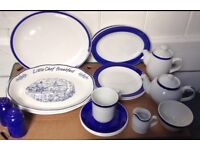 Blue and White Breakfast crockery for Two
