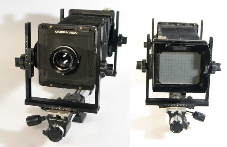 4X5 OMEGA VIEW CAMERA WITH 210MM F5.6 LENS