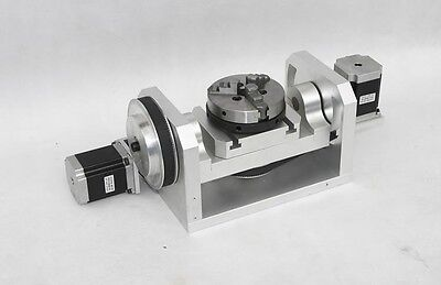 Mach3 3-jaw Chuck 4th5th Axis Rotational H Style Cnc Engraving Machine Rotary