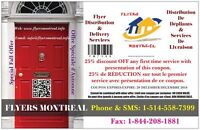 Flyer Distribution & Delivery Services|Montreal Laval Longueuil