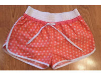 Coral Floral Print Shorts Size 10