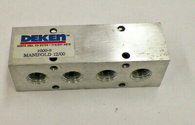 5 Pneumatichydraulic Manifold-aluminum 4 14 Npt 2 38 Npt 1000-9